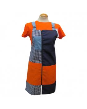 Pichis doble carro naranjas y azules para maestras