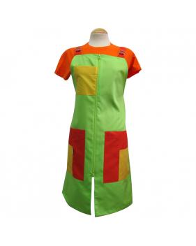 Pichis doble carro naranjas amarillos y verdes para maestras