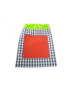 Bolsas de merienda verdes azules y naranjas niño y niña