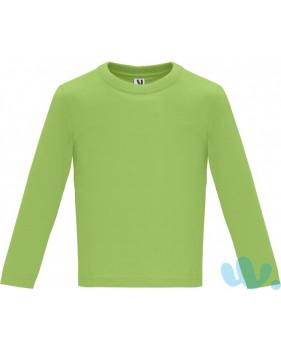 Camiseta Bebé Manga Larga pistacho